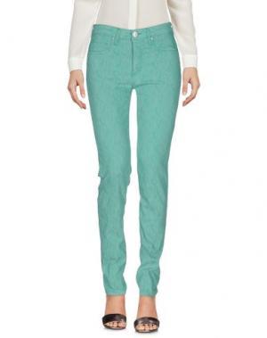 Повседневные брюки BLUE LUXURY. Цвет: зеленый
