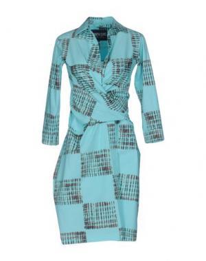 Короткое платье SAMANTHA SUNG. Цвет: бирюзовый