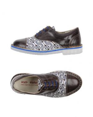 Обувь на шнурках WALLY WALKER. Цвет: свинцово-серый