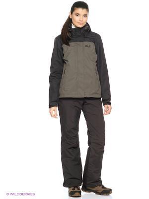 Куртка MONTERO JACKET WOMEN Jack Wolfskin. Цвет: темно-серый