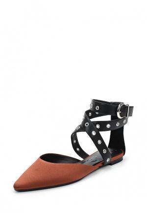 Туфли Mango. Цвет: коричневый