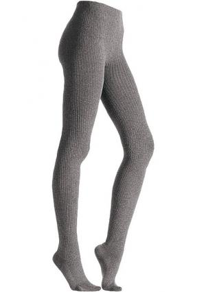 Колготы, 2 пары. Цвет: 2х черный, джинсовый меланжевый+темно-серый меланжевый, коричневый+черный, серый меланжевый+темно-серый меланжевый