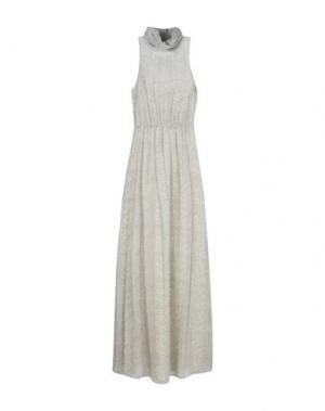 Длинное платье MIGUEL PALACIO for HOSS INTROPIA. Цвет: светло-серый