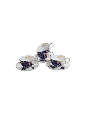 Чайный сервиз Кармен на 4 персоны Elff Ceramics. Цвет: белый, синий