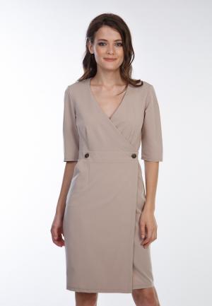 Платье Irma Dressy. Цвет: бежевый