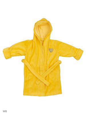 Халат банный AnGela. Цвет: желтый