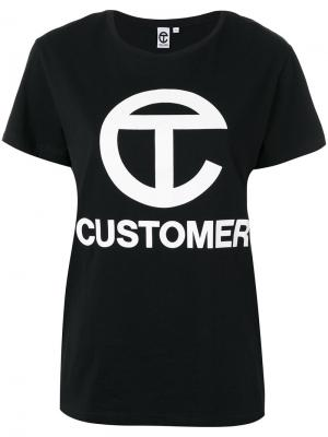 Футболка Customer Telfar. Цвет: чёрный
