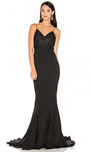 Вечернее платье becca Elle Zeitoune. Цвет: черный