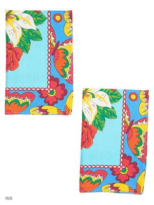 Набор полотенец празничных Римейн. Цвет: синий, голубой