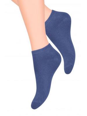 Носки женские Steven. Цвет: серо-голубой, голубой