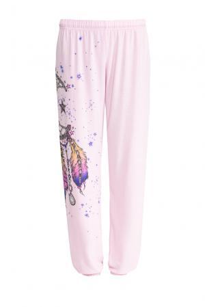 Трикотажные брюки SF-153393 Lauren Moshi. Цвет: розовый