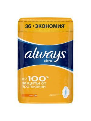 Женские гигиенические прокладки ALWAYS Ultra ароматизированные Light Quatro 36шт. Цвет: оранжевый