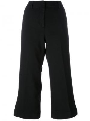 Расклешенные укороченные брюки Barba. Цвет: чёрный