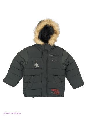 Куртка для мальчика Родео Пралеска. Цвет: темно-зеленый