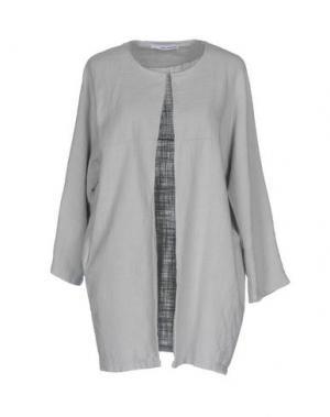 Легкое пальто CHILI PEPPERS. Цвет: светло-серый