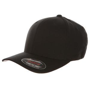 Бейсболка классическая  6277 Black Flexfit. Цвет: черный