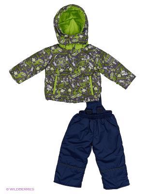 Комплект для мальчика демисезонный /куртка, полукомбинезон/ Rusland. Цвет: серый, салатовый