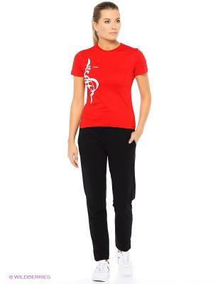 Футболка женская Runika. Цвет: красный