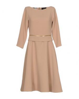 Платье до колена RHEA COSTA. Цвет: бежевый
