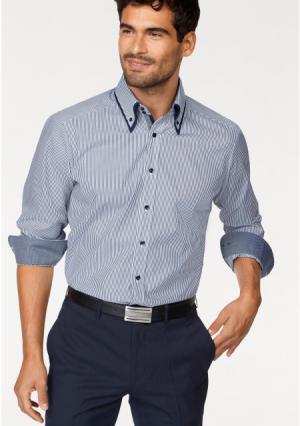 Рубашка BRUNO BANANI. Цвет: темно-синий/белый