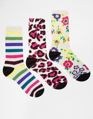 Fruitcake Комплект из 3 пар носков с разным рисунком Bamboo. Цвет: мульти