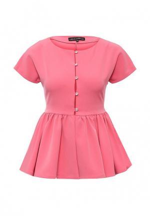 Блуза Disash. Цвет: розовый
