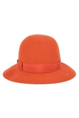 Фетровая шляпа с лентой Borsalino. Цвет: оранжевый