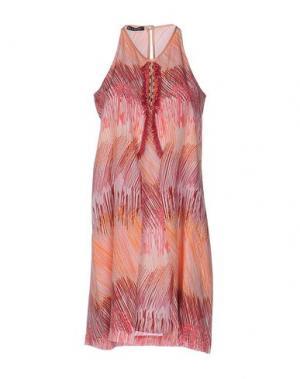 Короткое платье PAOLA FRANI. Цвет: фуксия