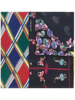 Contrast print scarf Pierre-Louis Mascia. Цвет: чёрный