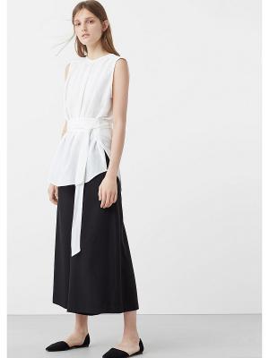Блузка Mango. Цвет: белый