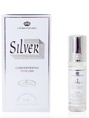 Арабские масляные духи Серебро (Silver), 6 мл Al Rehab. Цвет: белый