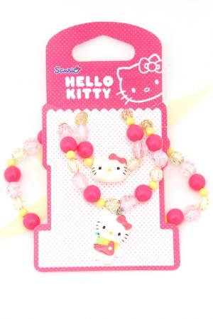 Набор бижутерии Hello Kitty. Цвет: зеленый, розовый