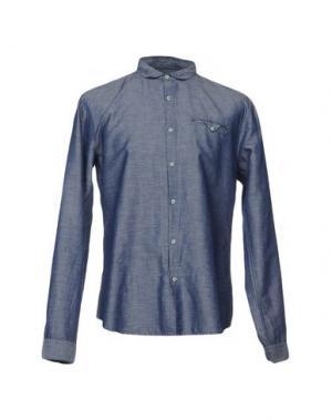 Джинсовая рубашка INDIVIDUAL. Цвет: грифельно-синий
