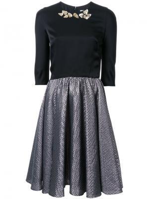 Фактурное платье Ingie Paris. Цвет: чёрный