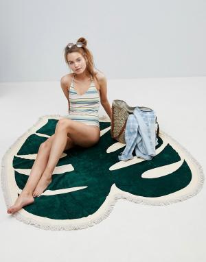BAN DO Пляжное полотенце с тропическим принтом Ban.Do. Цвет: мульти