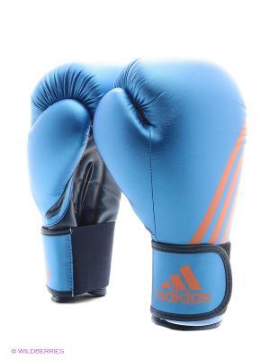 Перчатки боксерские Speed 100 Adidas. Цвет: синий, оранжевый