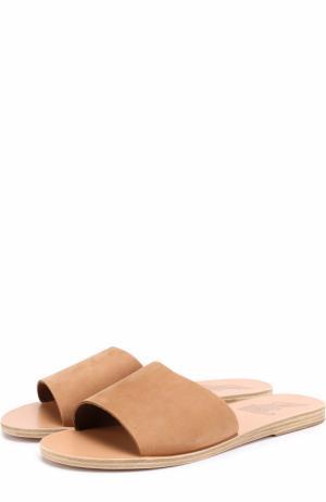 Кожаные шлепанцы Taygete Ancient Greek Sandals. Цвет: бежевый