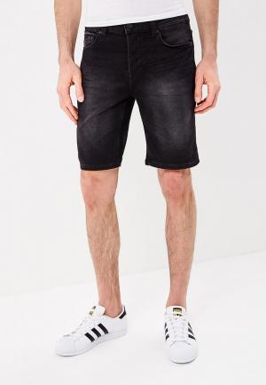 Шорты джинсовые Only & Sons. Цвет: черный
