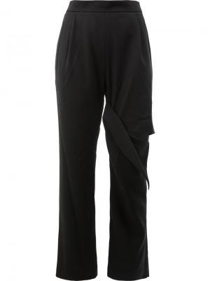 Расклешенные брюки с разрезами Litkovskaya. Цвет: чёрный