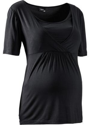 Мода для беременных: футболка с функцией кормления (синий ментол) bonprix. Цвет: синий ментол