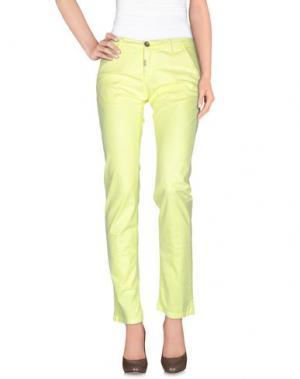 Повседневные брюки NO LAB. Цвет: желтый