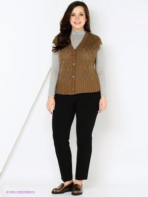 Жилет Milana Style. Цвет: коричневый