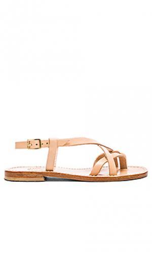 Multi strap sandal Capri Positano. Цвет: tan