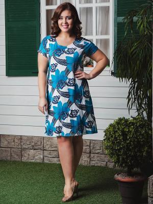 Платье CLEO. Цвет: бирюзовый