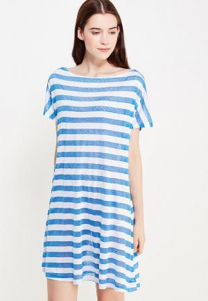 Платье домашнее Дефиле. Цвет: синий