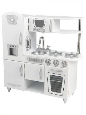 Детска игрушечна кухн из дерева Винтаж, цвет Белый (White Vintage Kitchen) KidKraft. Цвет: белый