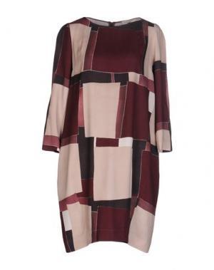 Короткое платье ANTONELLI. Цвет: баклажанный