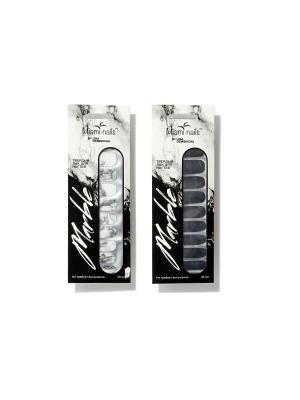 Твердый лак для ногтей Marble (20 шт) Miami Tattoos. Цвет: черный, серый, темно-серый