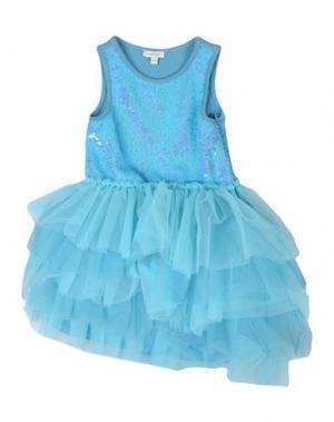 Платье MICROBE. Цвет: бирюзовый