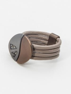 Кольцо Krikos. Цвет: бежевый, серый, коричневый